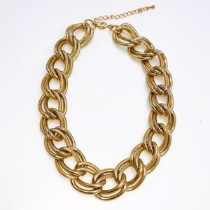 Chunky Gold Chain Statement Necklace